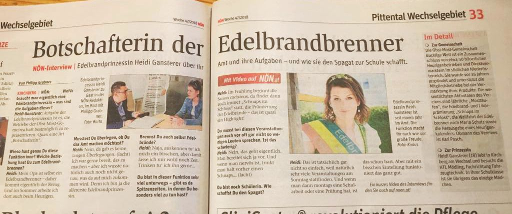 Edelbrandprinzessin Heidi Gansterer im NÖN-Interview