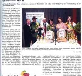 Mosttaufe der OMG an der Fachschule Warth im Amtsblatt