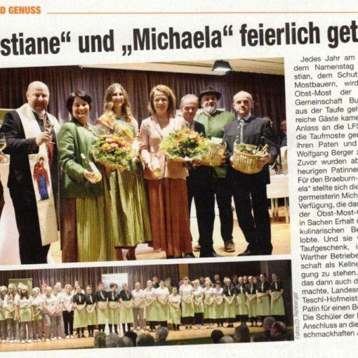 """""""Christiane"""" und """"Michaela"""" feierlich getauft"""